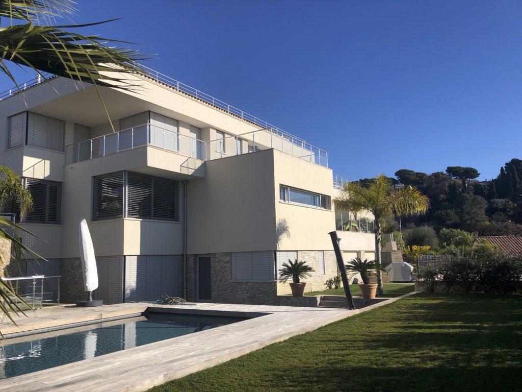étude structure villa de luxe